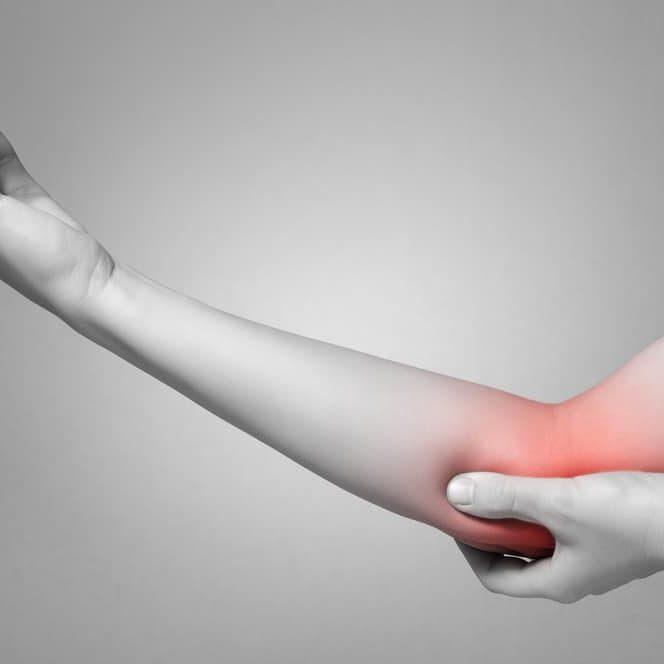 soreness around elbow bump